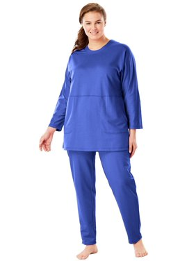 55f423a135 Product Image Plus Size French Terry Lounge Set By Dreams ...