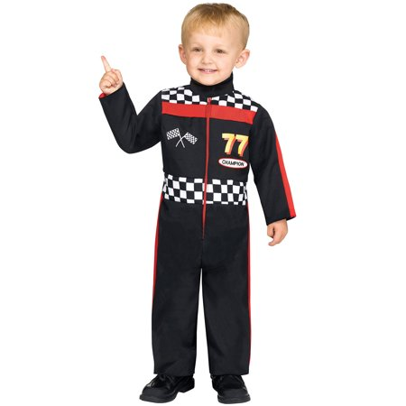 Race Car Driver Child Halloween Costume, One Size, (2T)