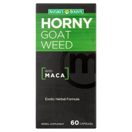 Nature's Bounty Horny Goat Weed with Maca Herbal Supplement Capsules, 60 count