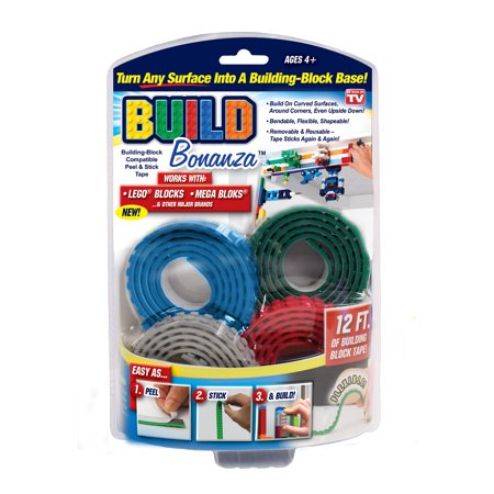 As Seen on TV Build Bonanza Flexible Building Block Base, (Blue/Green/Red/Gray)
