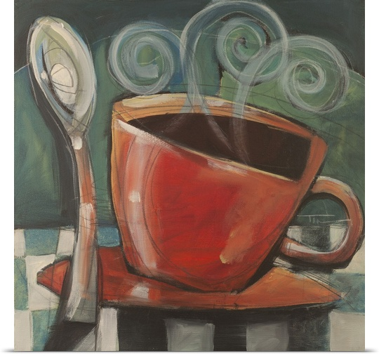 Great BIG Canvas   Rolled Tim Nyberg Poster Print entitled Cup And Spoon