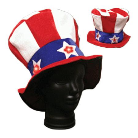 Dozen Light Up Flashing L.E.D Uncle Sam Hat
