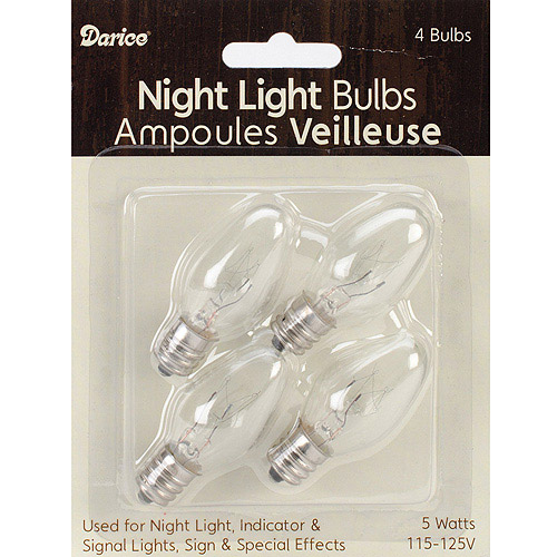 Candle Lamp Collection Night Light Bulbs, 5 Watts, 4/Pkg
