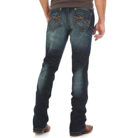 Indigo Striped Jeans - Wrangler Men's Indigo Vintage 20X No. 44 Stretch Jeans Straight Leg - 44Mwxdn