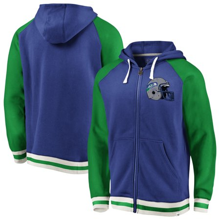 separation shoes 6f9ab cf2e6 Seattle Seahawks NFL Pro Line by Fanatics Branded True Classics Full-Zip  Hoodie - Royal/Green