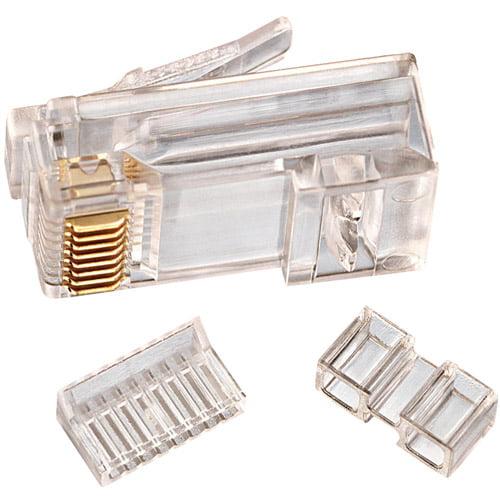 Ideal 85-366 CAT 6 RJ-45 Mod Plug Cards, 25-Pack