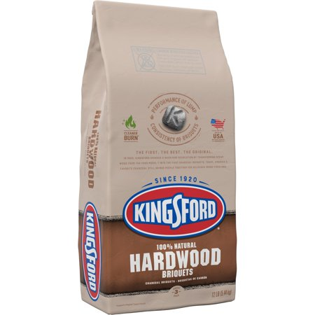 Kingsford 100% Natural Hardwood Charcoal Briquets, 12 Pounds