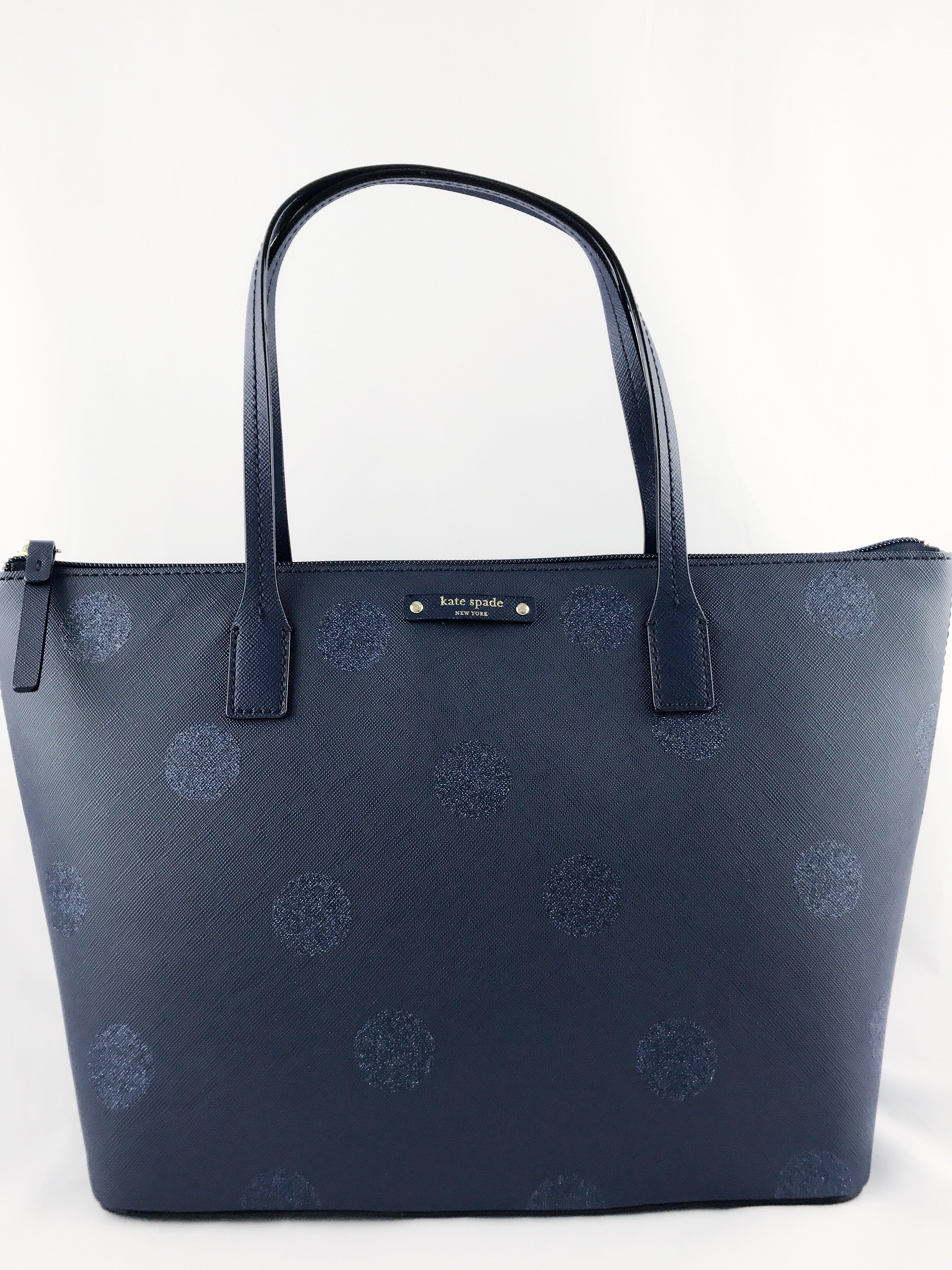 Kate spade haven lane hani small tote navy blue glitter polka dots kate spade haven lane hani small tote navy blue glitter polka dots handbag walmart junglespirit Gallery