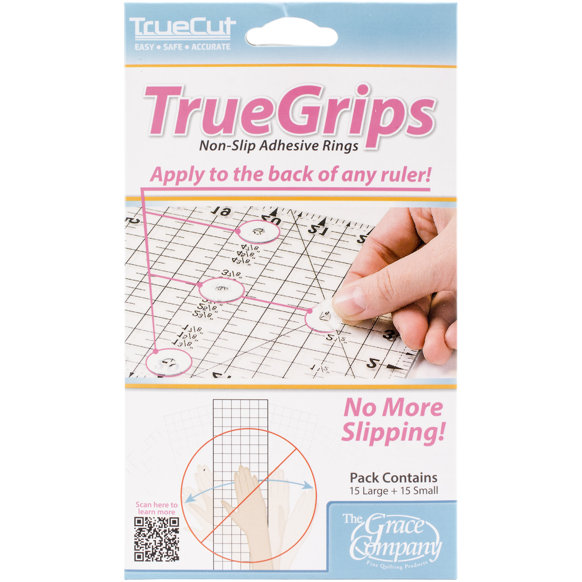 The Grace Company True Grips Non-Slip Adhesive Rings