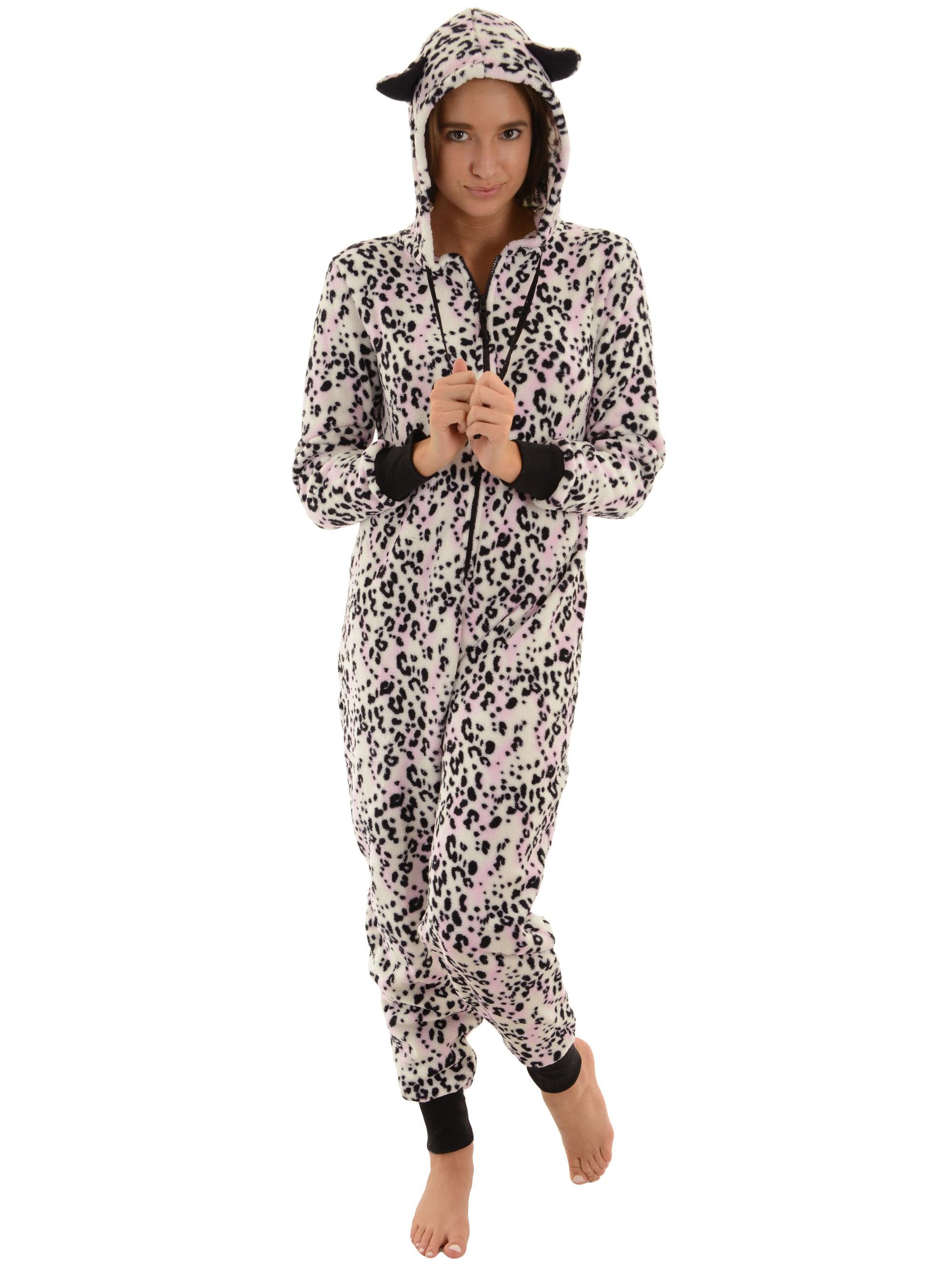 Womens Hooded Zip Up Onesie Pajamas