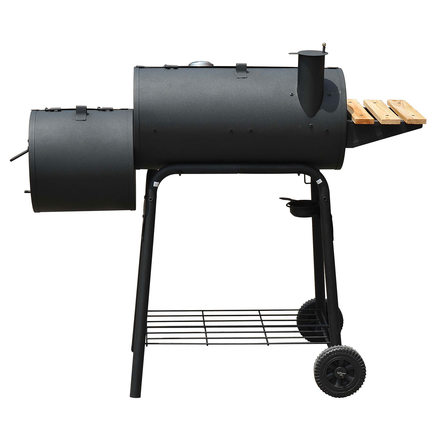 outsunny barbeque charcoal grill offset smoker combo walmart com