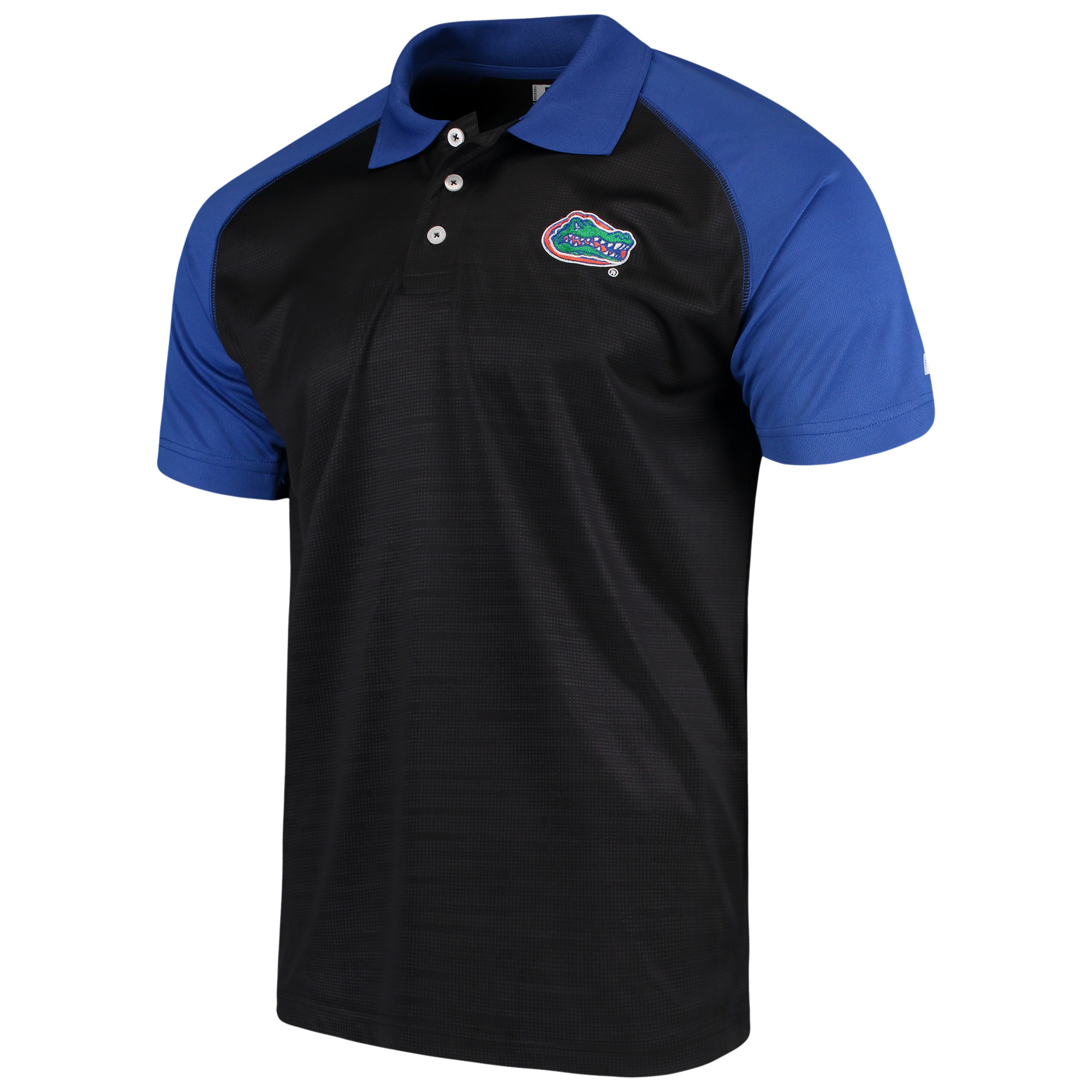 Men's Russell Black Florida Gators Color Block Polo