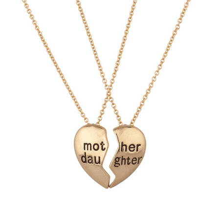Lux Accessories Mother Daughter Mom BFF Best Friends Parent Mommy Girl Necklace (2 PC) (Mummy Mom)