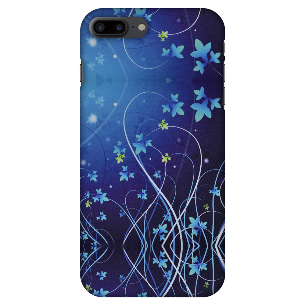 iPhone 7 Plus Case - Midnight Lily, Hard Plastic Back Cover. Slim Profile Cute Printed Designer Snap on Case with Screen Cleaning Kit