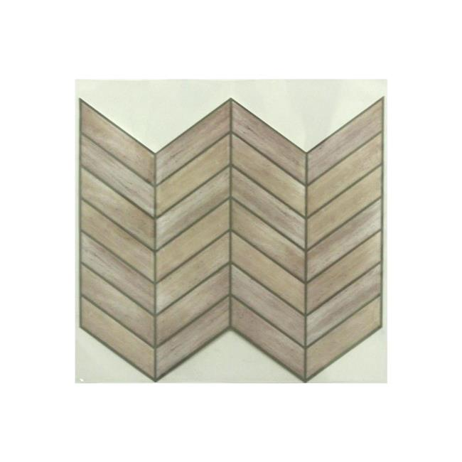 RoomMates Distressed Wood Subway StickTILES Wall Decal