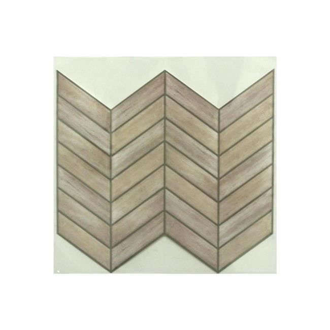 RoomMates StickTILES Distressed Wood Peel and Stick Backsplash - 4 Pack