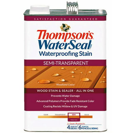 Thompsons WaterSeal Semi-Transparent Waterproofing Stain WOODLAND CEDAR