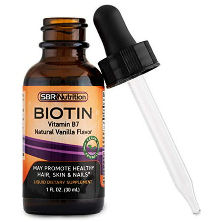 MAX ABSORPTION Biotin Liquid Drops, 5000mcg of Biotin Per Serving, 60 servings, No Artificial Preservatives, Vegan Friendly, Support Healthy Hair, Strengthen Nails and Improve Skin Health, Made in USA ()