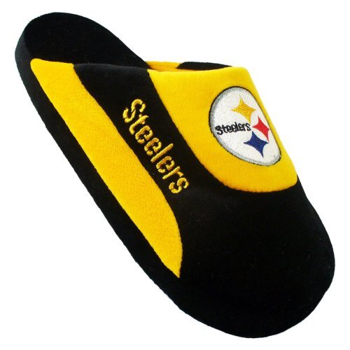 Comfy Feet NFL Low Pro Stripe Slippers - Pittsburgh Steelers