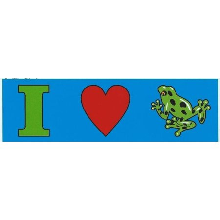 10in x 3in I heart (Love) Frogs Frog magnet bumpers car magnetic  car - Magnetic Frog