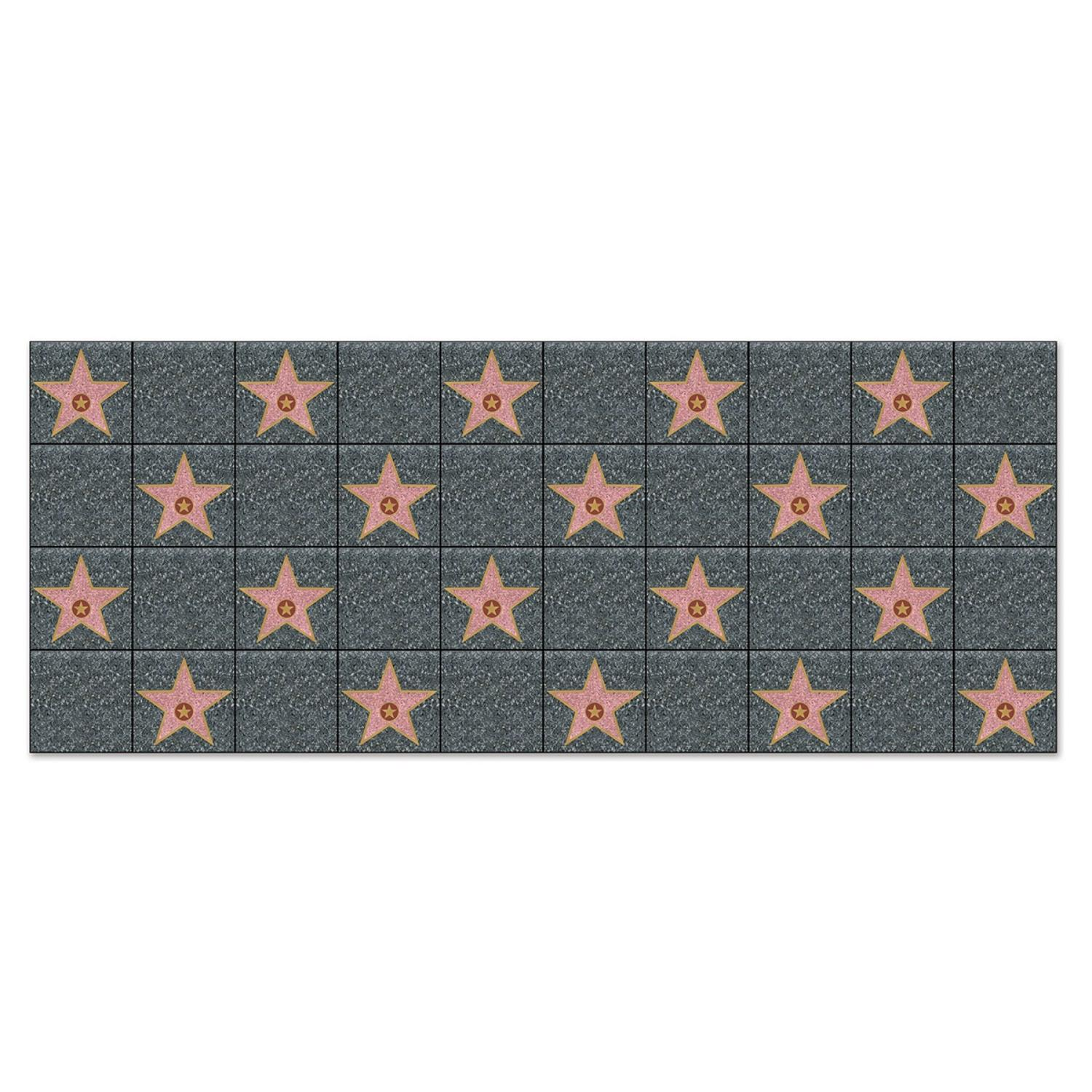 Pack of 6 Star Walk of Fame Photo Backdrop Party Decorations 30'