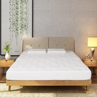 """Ktaxon New 8"""" inch Queen Size Cool Firm Memory Foam Mattress Bed with 2 Pillows White"""