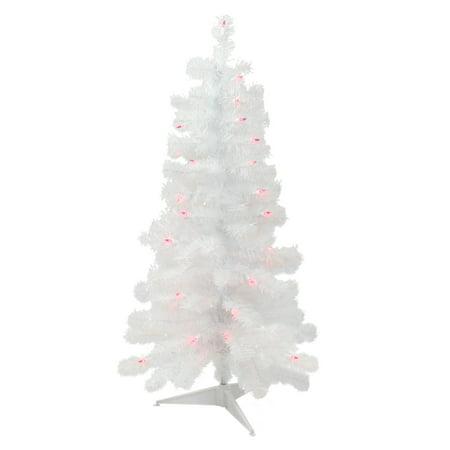 3 Pre Lit Christmas Tree.3 Pre Lit White Iridescent Pine Slim Artificial Christmas Tree Pink Lights