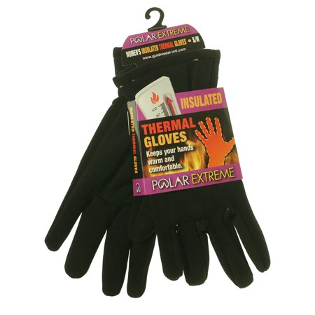 Polar Extreme Heat Women's Insulated Thermal Lined Stretch Gloves Black Grandoe Lined Gloves