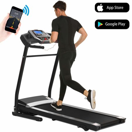 Folding Electric Jogging Treadmill with Smartphone APP Control, Power Motorized Fitness Walking Running Machine Exercise Trainer Equipment,incline(US Stock)