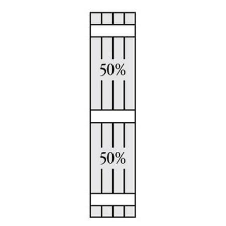 Perfect Shutters 7 625W in Open Board N Batten Arch Top Vinyl Shutters
