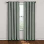 Twist Blackout Window Curtain Panel 63-Inch Blue