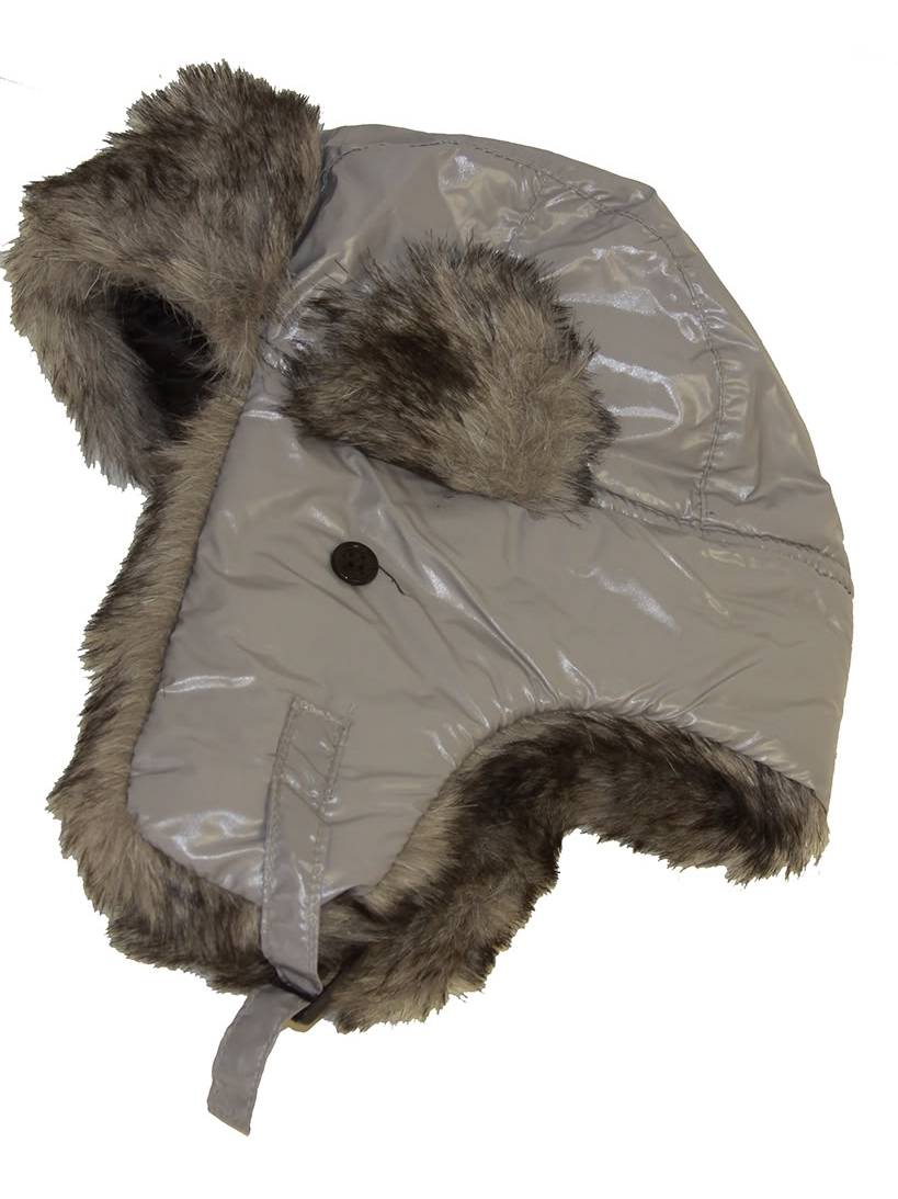Ushanka Faux Fur Trapper Winter Flight Trooper Hat Cap GREY ff8289ca51ad
