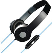 iLive Stereo Designer Headphones with Microphone and Glowing Cable