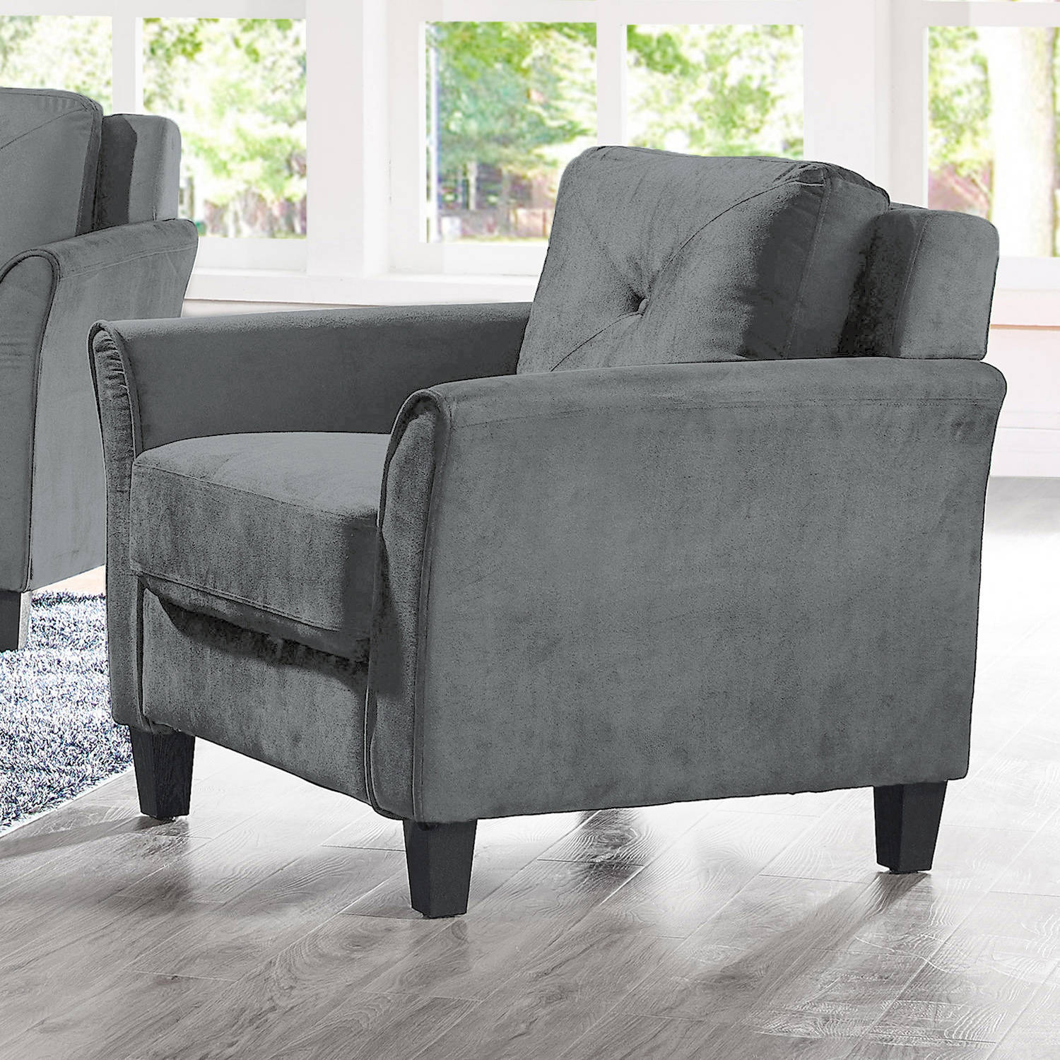 Lifestyle Solutions Ireland Armchair, Dark Grey by Lifetstyle Solutions