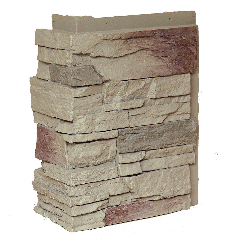 NextStone™ Faux Polyurethane Stone Country Ledgestone Outside Corner - Teton Buff