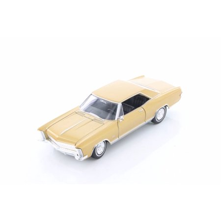 1965 Buick Riviera Grand Sport Hard Top, Gold - Welly 24072/4D - 1/24 Scale Diecast Model Toy Car (Brand New but NO (1964 Buick Riviera)