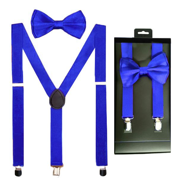 Black Clip on Bow-Tie /& Suspender Set Tuxedo Wedding Formal Prom USA Seller