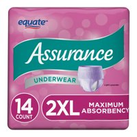 Assurance Underwear, Women's, Size 2XL, 14 Count