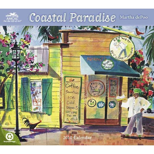 Martha Depoo Coastal Paradise 2010 Calendar