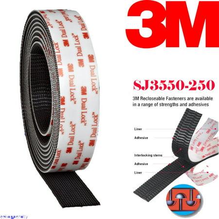 Genuine 3M Dual Lock SJ3550 Type 250 VHB Black Reclosable Fastener, 1