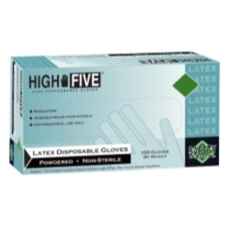 Micro Flex L494 High Five Lightly Powdered Industrial Grade Latex Gloves, X Large