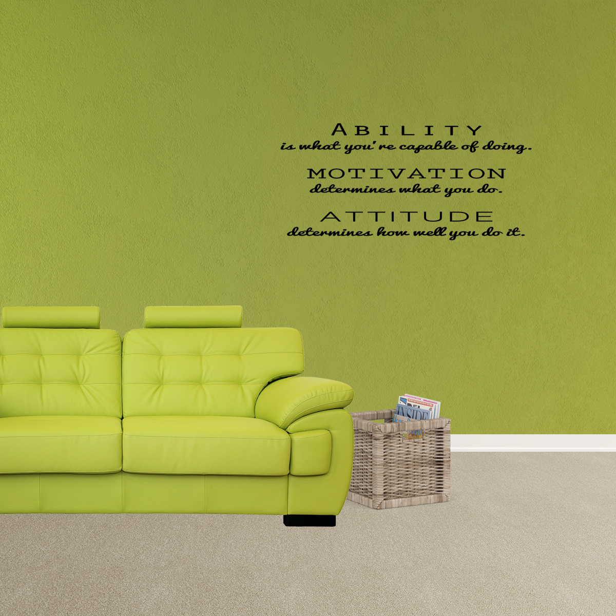 Inspirational Attitude Vinyl Wall Decal Quotes Stickers