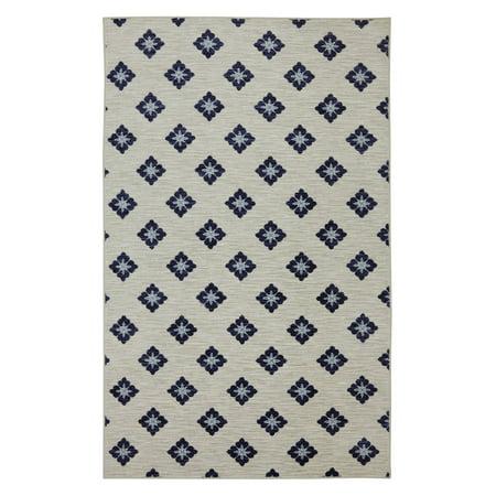 Mohawk Home Woodbridge Button Fleur Navy Rug
