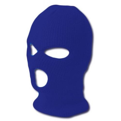 TopHeadwear GI Waffle Ribbed Ski Mask Royal Blue (2 Different Styles) by