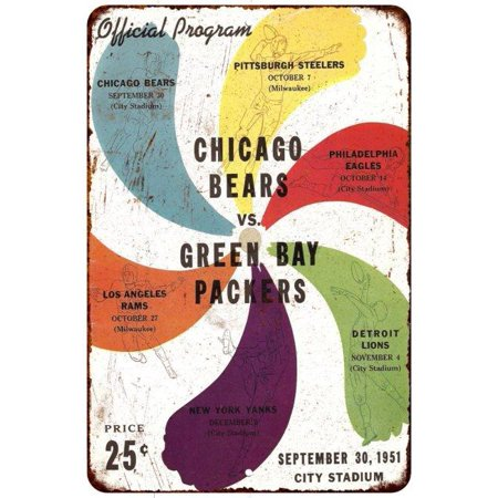 1953 Green Bay Pacers Vs Bears Vintage Look Reproduction 8X12 Sign 8120592