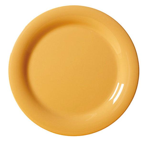 Diamond Mardi Gras 10.5 inch Narrow Rim Plate Tropical Yellow Melamine/Case of 12