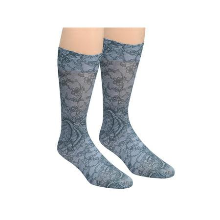 982528609b Celeste Stein Moderate Compression Knee High Stockings Wide Calf - Black  Lace - Walmart.com