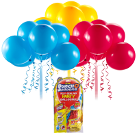 Bunch O Balloons Self-Sealing Latex Party Balloons, Red, Blue, & Yellow, 11in, 24ct