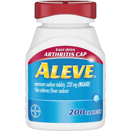 Aleve Easy Open Arthritis Cap Pain Reliever/Fever Reducer Naproxen Sodium Tablets, 220 mg, 200 Ct
