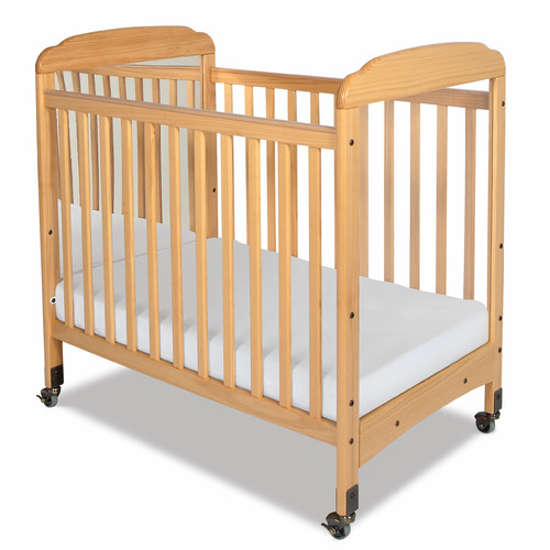 Foundations Serenity Compact Size Mirror End Convertible Crib with Mattress